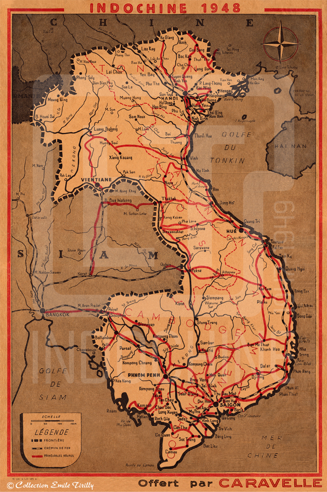 Carte indochine 1948